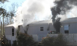 Manufactured Home Meth Lab Explosion